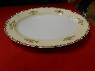"Great Vintage PLATTER...14"" x 10"" ... MEITO China Handpainted....Pattern ????"