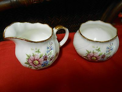 """Beautiful QUEENS """"Staffordshire"""" China ....SUGAR and CREAMER"""