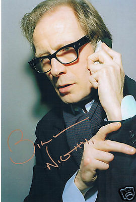 Bill Nighy British Film Actor Hand Signed  Photograph Harry Potter 12 x 9
