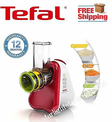 Tefal Electric Food Grater Shredder Slicer Food Processor Fruit Salad Veg Cheese