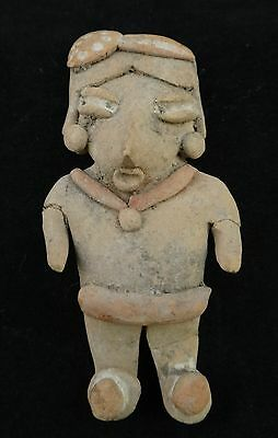 "Chupicuaro Clay figure, circa 500 to 0 BCE. Measures 3 1/8"" tall"