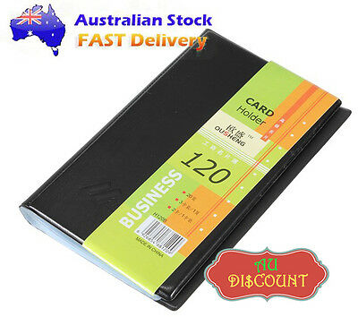 120 Leather Business Name ID Credit Card Holder Booklet Folder Wallet Organizer