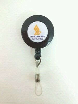 Singapore Airlines YO YO ID Card Badge Holder Retractable Reel SQ Lanyard