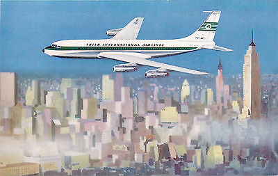 Shamrock Jet in Flight ~AER LINGUS / IRISH AIRLINES~ Beautiful Old Postcard 1955