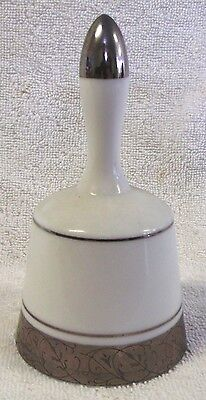 "Vintage Bells--White & Gold--Ceramic Bell--5"" Tall--Very Nice--Very Collectible!"