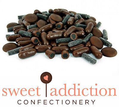 500g Premium Dark Chocolate Covered Licorice Bullets - Bulk -Sweet Addiction
