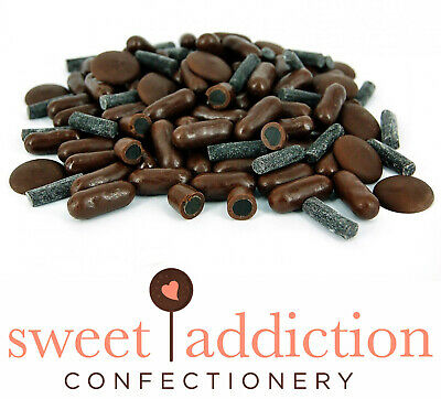 500g Premium REAL Dark Chocolate Covered Licorice Bullets - Bulk Candy Buffet