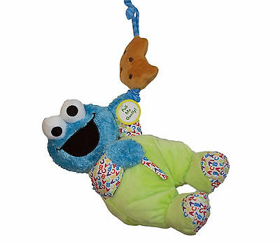 123 Sesame Street Blue Cookie Monster Musical Soft Plush Baby Toy 23cm