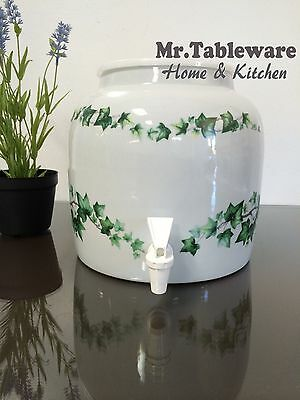 Water Crock Ivy Leaf Porcelain Ceramic Water Dispenser