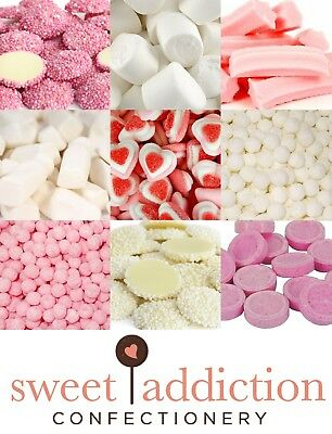 DIY Candy Buffet Pink and White Theme 7kg - Bulk Lolly Party Lollies Wedding