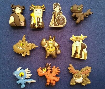 New 10 Pc How To Train Your Dragon Jibbitz Shoe Charms Cake Toppers Party Favors