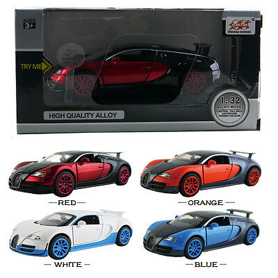 1PC 1:32 Bugatti Veyron Pull Back Friction Vehicle Die Cast Model Car Kid Toy