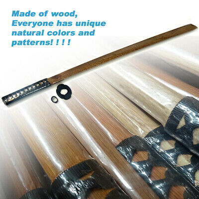 1x 101cm Datio Bokken Wooden Katana Kendo Samurai Practice Sword Only Black