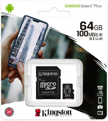 Kingston 64GB Micro SD SDHC SDXC Class 10 Memory Card 64G Mobile Phone 80MBs