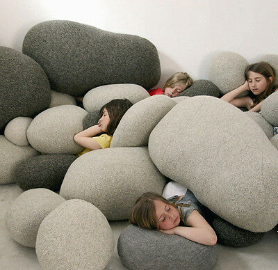 A Set Of(1#-6#)Living Rock Stones Shape Bean Bag  Pillow Cases/cover/shell(6Pcs)