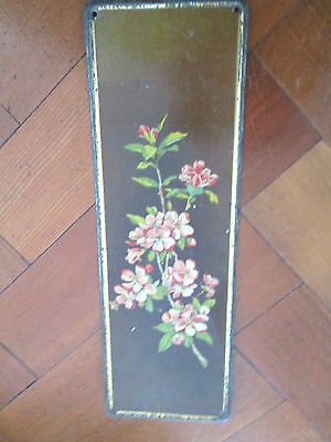 Old Door Plate With Floral Design