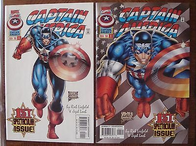 Captain America 1996 Marvel Comics #1 Variant Spectacular 1St Issue Comic Lot