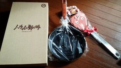Stadio Ghibli Howl's Moving Castle Calcifer Frying Pan and spatula set! New F/S