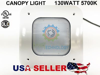 Canopy 130W LED Light Drop Lens Gas Station Warehouse Highbay 5700K UL/DLC 130 W