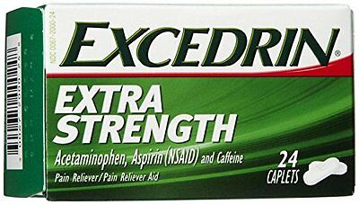 Excedrin Pain Relief Caplets, Extra Strength 24 Each