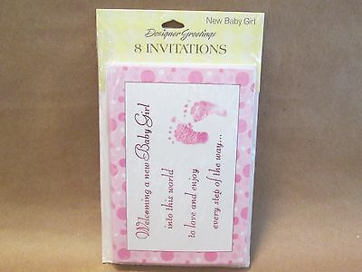 40 It's A Girl New Baby Cards Birth Announcements With Envelopes