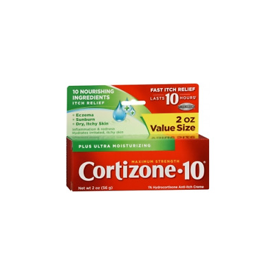 3 pack - Cortizone-10 Plus Maximum Strength Anti-Itch Creme 2oz Each