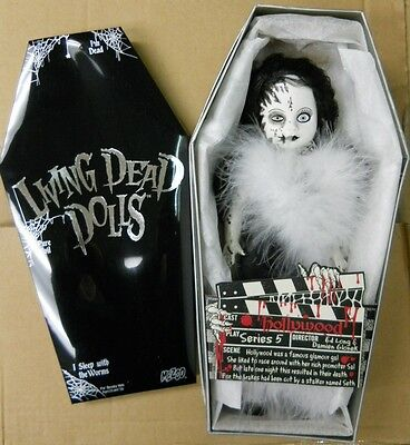 Living Dead Dolls series 5 Mystery HOLLYWOOD Black & White doll~Mezco~Goth~NIB