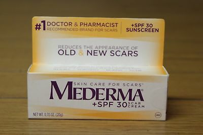 2 Pack - MEDERMA + SPF 30 Skin Care for Scars, Scar CREAM 0.70oz Each