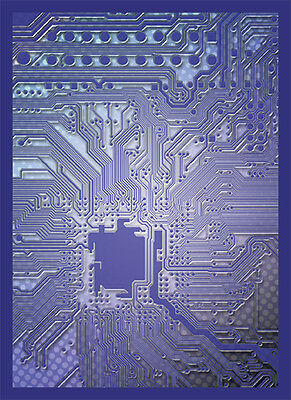 Standard Size Card Sleeves - Circuit Blue LGNART036