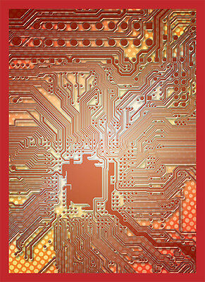 Standard Size Card Sleeves - Circuit Red LGNART035