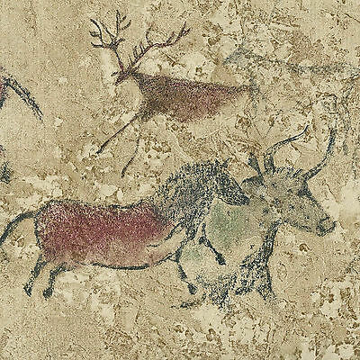 Canada$ Cave Art Drawing Golden Brown - 45 feet ONLY $18 - Wallpaper Border B018