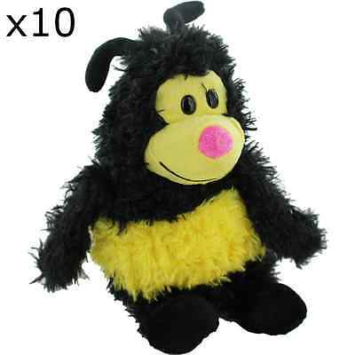 Childrens Bulk Teddy Pillow Cushion Bee Themed x10 Gifts NEW Party Bag Filler