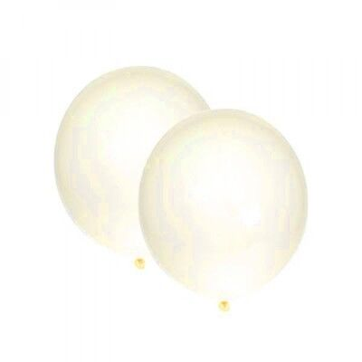 10 CLEAR BALLOONS Helium Air Latex Wedding Engagement Anniversary Party