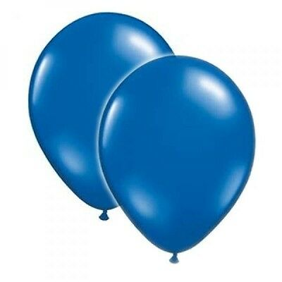 8 ROYAL BLUE BALLOONS Helium Air Latex Wedding Engagement Anniversary Party
