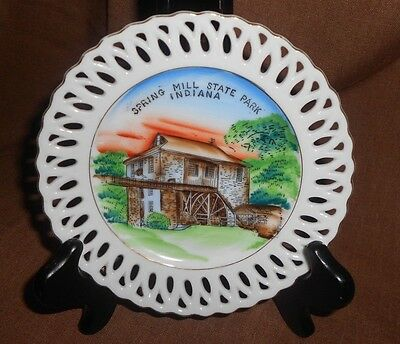 Vintage Spring Mill State Park Indiana Decorative Plate