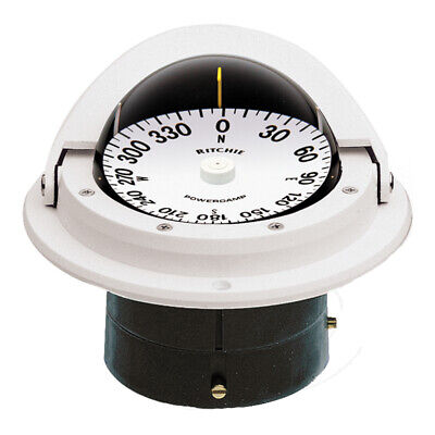 Ritchie F-82W Voyager Compass - Flush Mount - White - F-82W