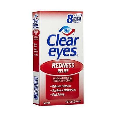 6 Pack - Clear Eyes Redness Relief Eye Drops 1oz Each