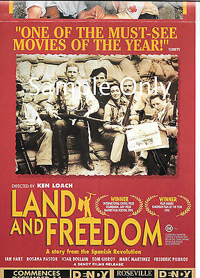 Ken Loach's Land And Freedom - Australian A4 size fold-out semi-gloss Flyer