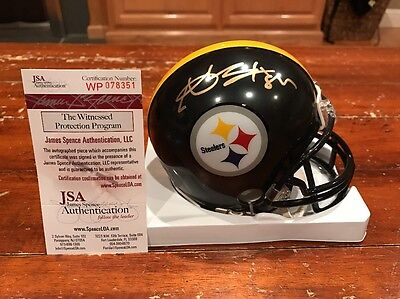 Antonio Brown Autographed Pittsburgh Steelers Mini Helmet Witness JSA