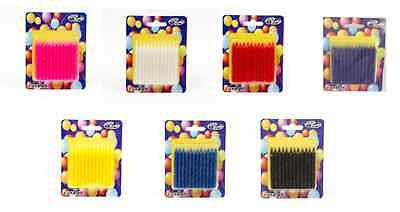 Birthday Spiral Candles Assorted Colours Party Candles Pack of 24