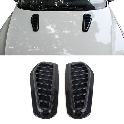 2 x voiture decorative prise air capot moteur scoop auto vent cover hood abs eur 7 90. Black Bedroom Furniture Sets. Home Design Ideas