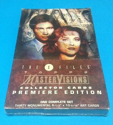 1995 The XFiles Topps Mastervisions Complete 30 Card Set Sealed Box