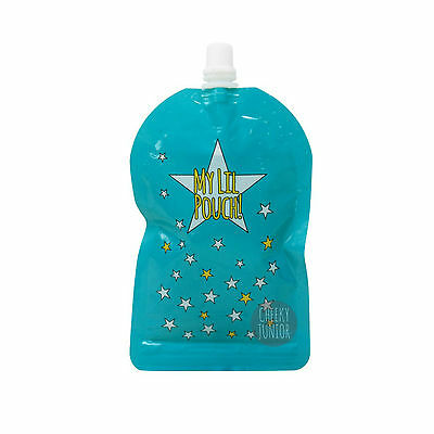 My Lil Pouch 140ml Galaxy Limited Ed Reusable Food Pouch Top Spout BPA Free 5pk