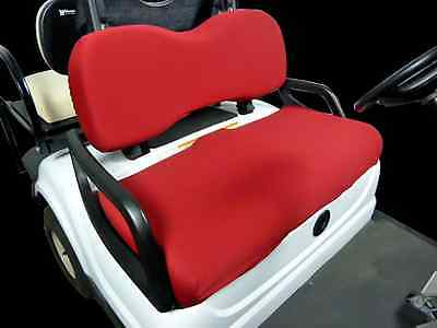 Golf Cart Seat Slip-on Seat Cover Red -  Made in USA