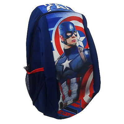 NEW OFFICIAL Captain America Marvel Boys Kids Large Backpack Rucksack School Bag
