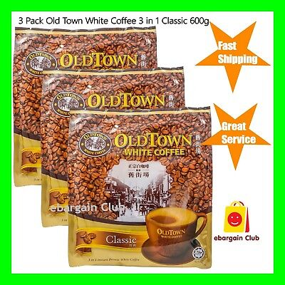4x Old Town 3 in 1 White Coffee Classic 600g (Total 4x600g = 2.4kg) | OldTown