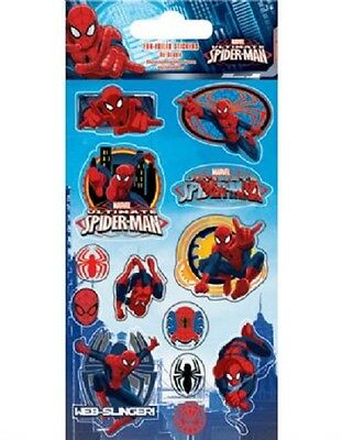 Marvel Spiderman Fun Foiled Sticker Sheet For Party Bags