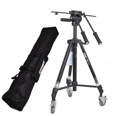 7005D Pro Video Tripod Double handle Fluid Pan Head for Camcorder camera