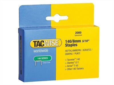 Tacwise TAC0346 140 Heavy-Duty Staples 8mm (Type T50 G) Pack 2000