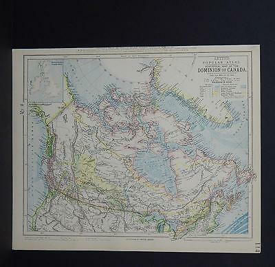 Antique Map, Lett's, 1883 S2#02 Dominion of Canada